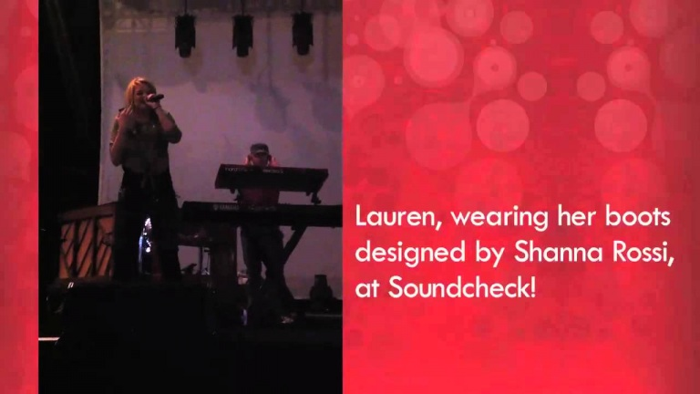 Lala's Video Blog: Lauren at Soundcheck
