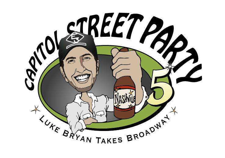 LUKE BRYAN TAKES OVER BROADWAY FOR CAPITOL STREET PARTY!
