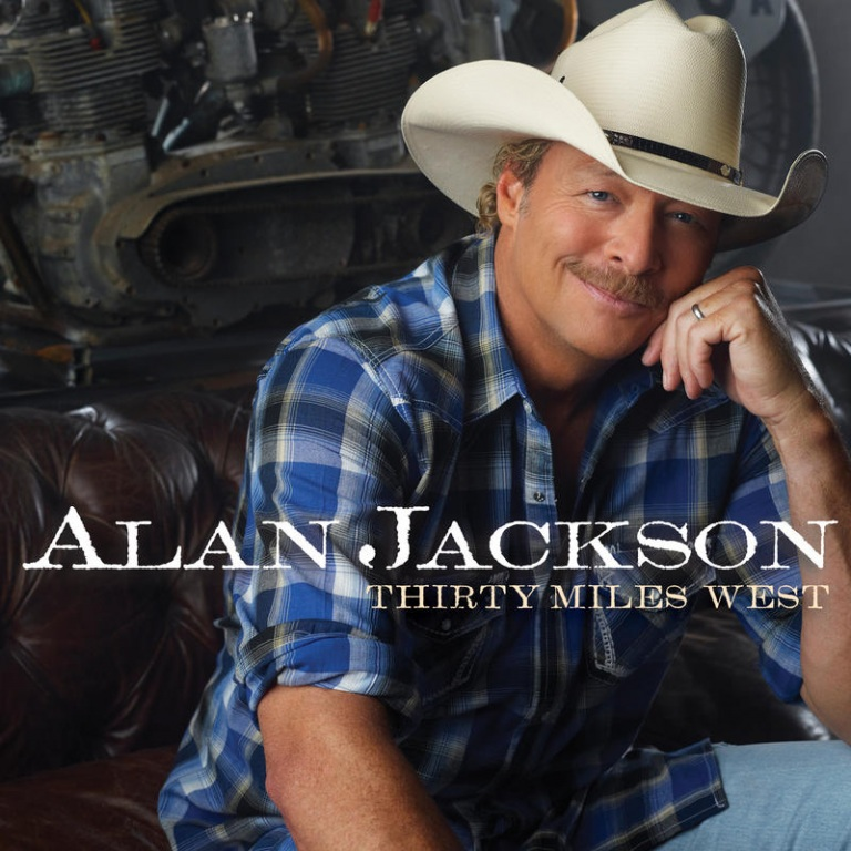 ALAN JACKSON WILL RELEASE HIS NEW ALBUM, THIRTY MILES WEST, ON JUNE 5TH.