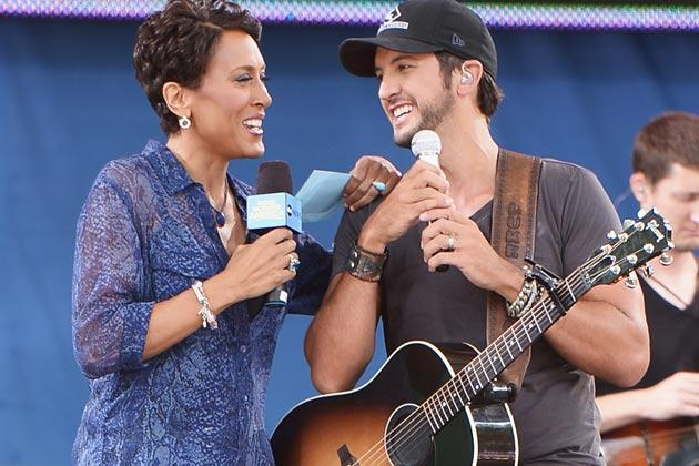 LUKE BRYAN GIVES PRAISE TO JIMMY FALLON AND ROBIN ROBERTS. (AUDIO)
