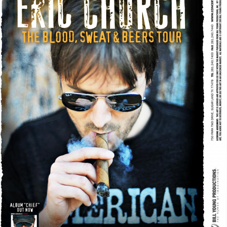 ERIC CHURCH LAUNCHES HIS 'BLOOD, SWEAT & BEERS' TOUR! (AUDIO)
