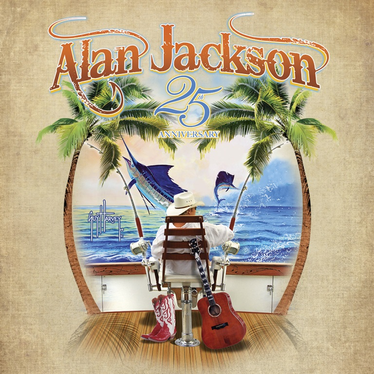Alan Jackson Offers Exclusive Guy Harvey Designed 25th Anniversary Tour T-Shirt To Benefit Ocean Conservation.