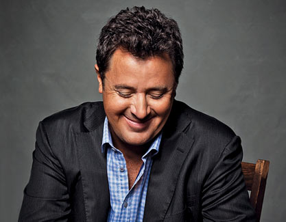 """VINCE GILL PLAYS WITH """"FIVE GUITAR PLAYERS"""" HE'S CRAZY ABOUT THIS WEEK."""