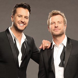 LUKE BRYAN AND DIERKS BENTLEY ARE GETTING READY TO HOST THE 52ND ACADEMY OF COUNTRY MUSIC AWARDS.