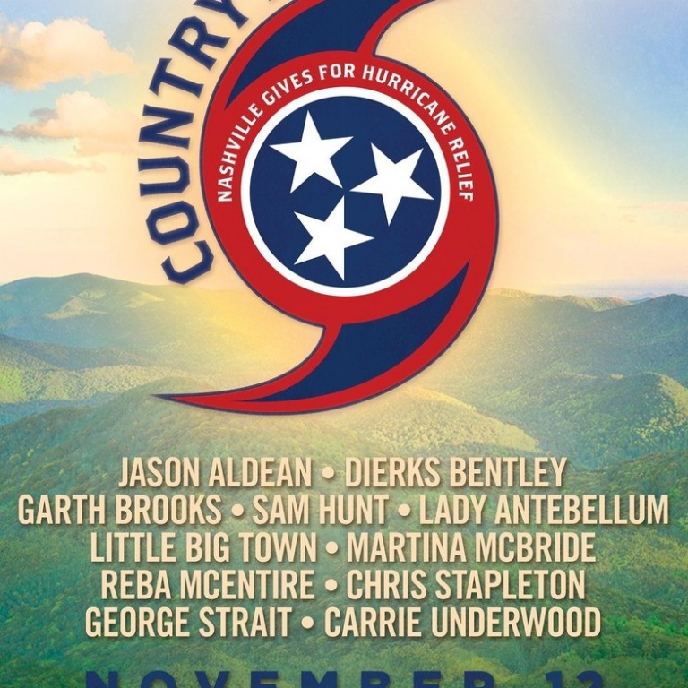 DIERKS BENTLEY, SAM HUNT, LADY ANTEBELLUM, LITTLE BIG TOWN, CHRIS STAPLETON, GEORGE STRAIT AND CARRIE UNDERWOOD WILL TAKE PART IN COUNTRY RISING, A BENEFIT CONCERT TO SUPPORT THE VICTIMS OF THE RECENT HURRICANES.